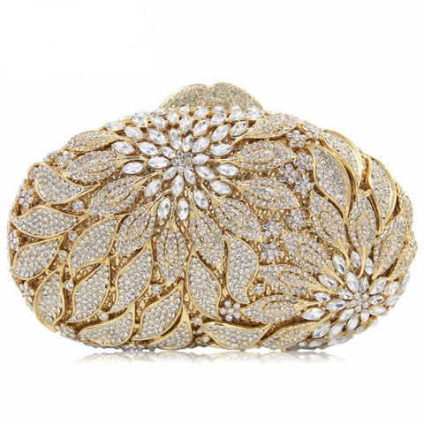 Flower Crystal Evening/Wedding Clutch/Bag