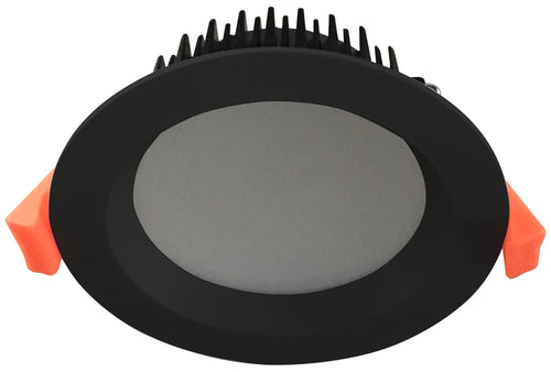 Dome  10W  Satin   Black  Recessed  Dimmable  LED Downlight Luminaire with Opal Acrylic Lens available   in  3000k Warm White and 4000k Neutral White,  90mm ceiling cut out