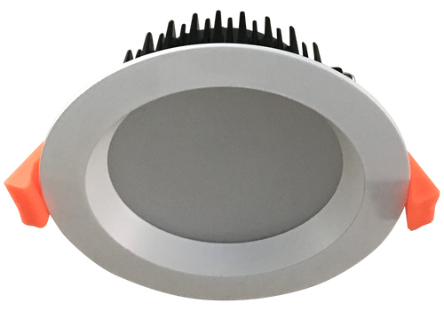Dome 13W Satin White Trim Recessed Dimmable LED Downlight available in 3000k Warm White and  4000k Neutral White,  90mm ceiling cut out