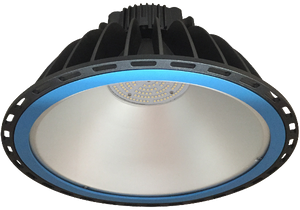 Xena 150w,  5000k,  IP65  LED Highbay Luminaire available with 90 Degree or 120 Degree Beam Angle and Tempered Glass or Acylic Lens