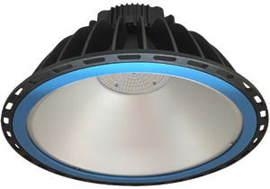 Xena 200w, 5000k,  IP65 LED Highbay Luminaire  available with 90 Degree or 120 Degree Beam Angles and Tempered Glass or Acrylic Lens
