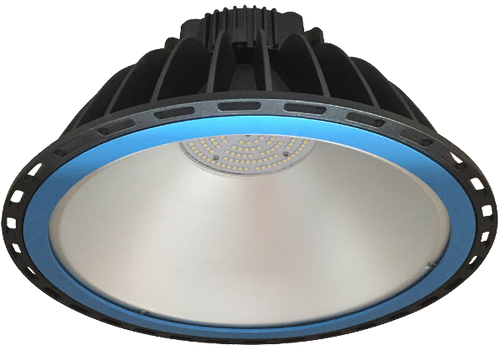 Xena 100w, 5000k,  IP65 LED Highbay Luminaire available with 90 Degree or 120 Degree Beam Angles and  Tempered Glass or Acrylic Lens