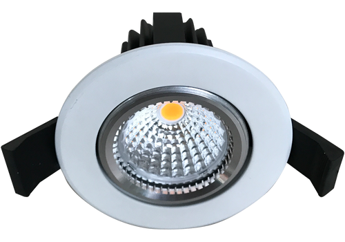 Razor White 12W Recessed LED Downlight with Faceted Reflector 70mm ceiling cut out
