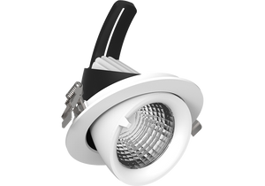 Snoop 20w  Recessed Adjustable and 360 degree rotational LED downlight   125mm ceiling cutout