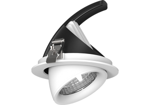 Snoop 10w  Recessed Adjustable and 360 degree rotational LED downlight   90mm ceiling cutout