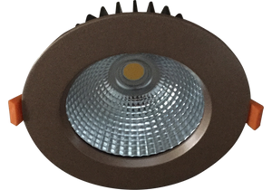 Torrez  21W  Rose Gold  Recessed LED Downlight Luminaire with a Facetted Silver Mirror Reflector 125mm Ceiling Cutout