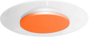 Vaness 24W Architectural Round LED Wall Light with Orange Dome