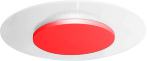 Vaness 24W Round Architectual Wall, Ceiling Light with Red Dome