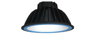 Xena 240w, 5000k,  IP65 LED Highbay Luminaire 130 lm/w  available with 90 Degree  or 120 Degree Beam Angles and Tempered Glass or Acrylic Lens