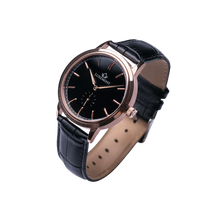 luxemont maestro rose gold black dial side view