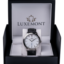 luxemont maestro silver white dial box view