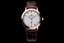 luxemont lady maestro rose gold white dial front view