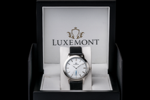 luxemont lady maestro silver white dial box view