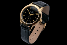 luxemont lady maestro yellow gold black dial side view