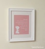 Baby Girl Prayer Print // Girl Nursery Decor