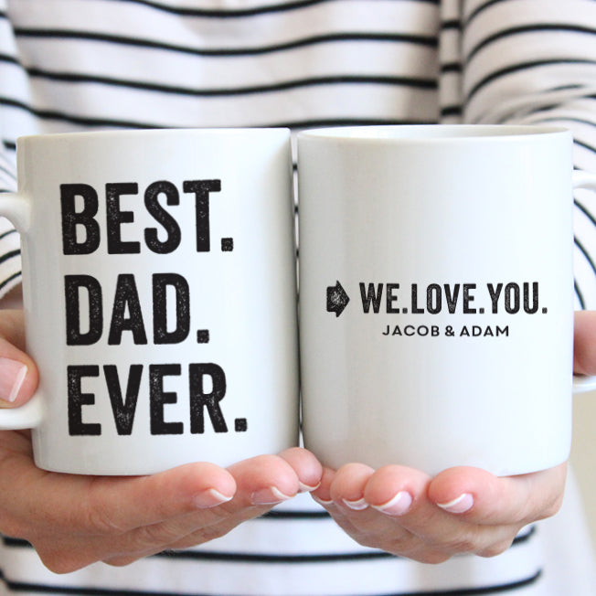 Best Dad Ever Mug // Personalized Dad Gift