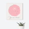 Dahlia Baby Guest Book Alternative  // Poster or Canvas