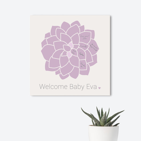 Floral Baby Guest Book Alternative  // Poster or Canvas