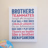 Brothers Words Wall Art Canvas // Boys Room Decor