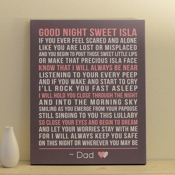 Custom Nursery Canvas Art // Poem, Quote, or Message