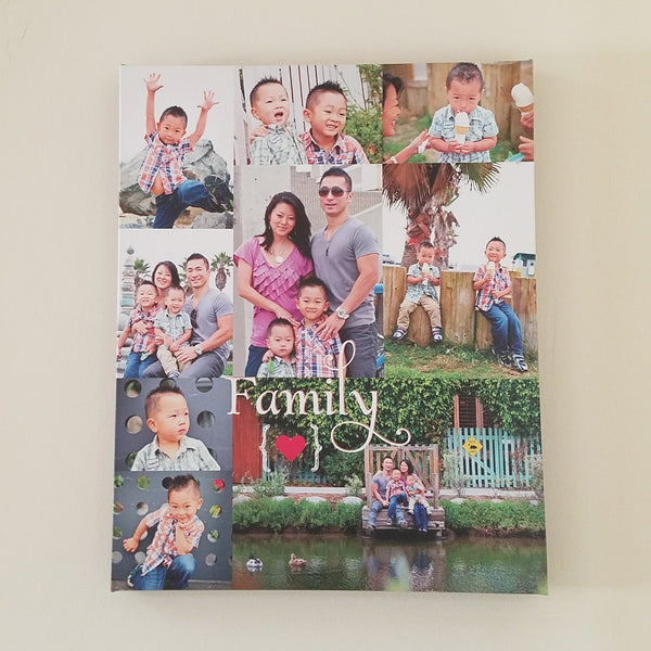 Custom Family Photo Collage // Photo Canvas Art