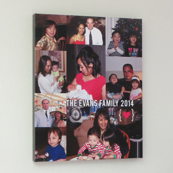 Family Photo Collage // Memories Canvas Art