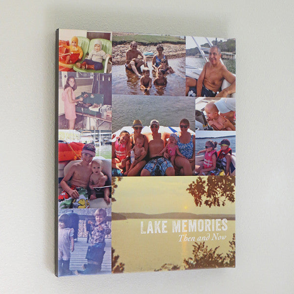 Family Memories Photo Collage // Custom Canvas Art