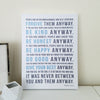 Mother Teresa Quote Canvas Art // Do It Anyway