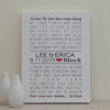 Wedding Anniversary Canvas Art // Wedding Song, Poem, or Vows