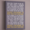 Typographic Canvas Art // Song Lyrics or Quote