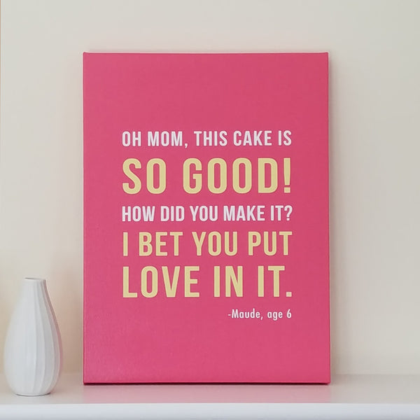 Personalized Kids Quote Canvas Art