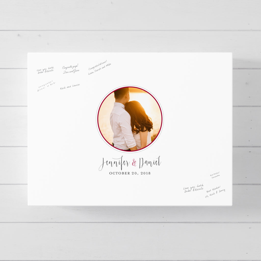 Round Photo Guest Book Alternative for wedding // Poster or Canvas