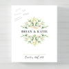 Rustic Leaves Wedding Guest Book Alternative // Poster or Canvas