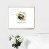 Rustic Wedding Guest Book Alternative with Photo // Canvas Wrap