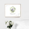 Greenery Diamond Wreath Wedding Guest Book Alternative //  Canvas Wrap