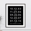 Special Dates Family Print // Block