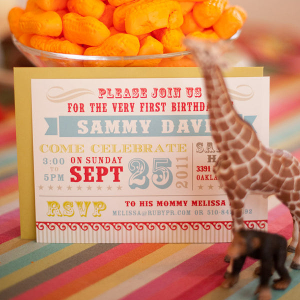 Circus Carnival Invitation // Birthday or Shower