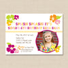 Hawaiian Luau Birthday Invitation with Photo
