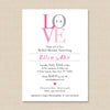 LOVE Invitation // Bridal Shower, Engagement, Wedding Announcement