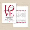 Love Philadelphia Invitation // Bridal Shower, Engagement, Rehearsal