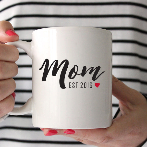 Mom Established Mom Coffee Mug // Script Text