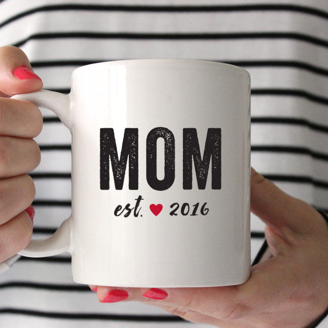 Mom Established Coffee Mug - Bold Text