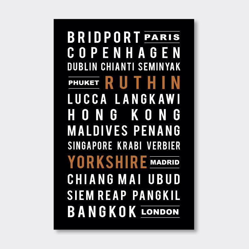 Personalized Subway Sign // highlighted street names, favorite cities & places