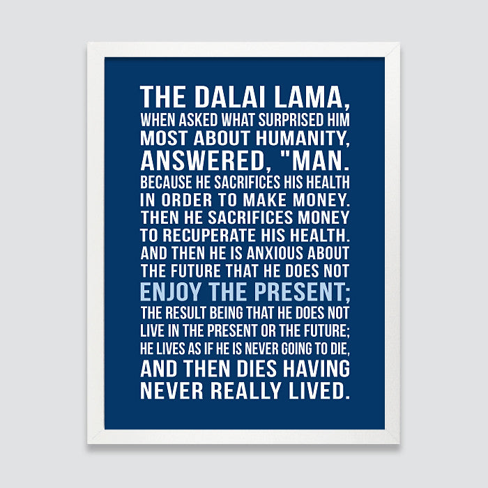 Dalai Lama Art Print // Inspirational Quote