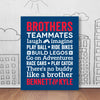 Brothers Words Wall Art