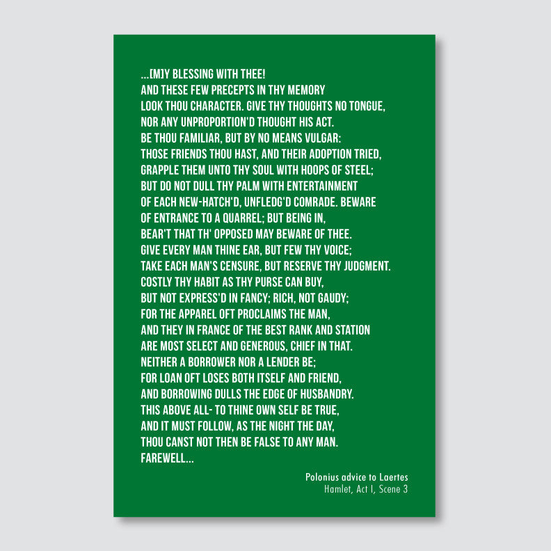 Personalized Poem Print // Block Text Left or Right Justified