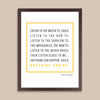 Personalized Quote Print // Bold Text with Square Border