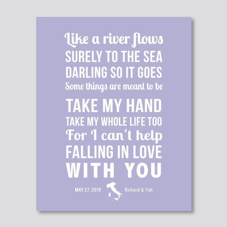 Song Lyrics with Map Artwork // Cursive & Bold Text