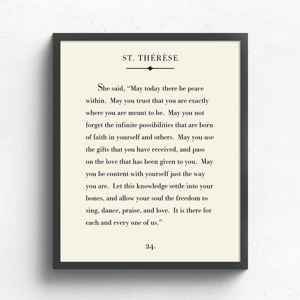 St. Therese Art Print // Book Page Art
