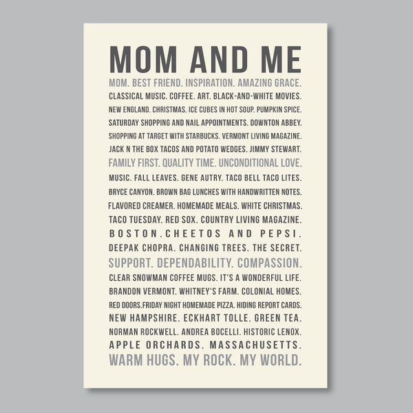 Personalized Gift for Mom // favorite memories & sayings